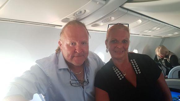 Lieven Lammens en zijn vrouw Bianca Falla konden vandaag dan toch vertrekken vanuit Cancun.