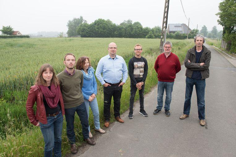 Enkele leden van het actiecomité Leefbaar Asper.