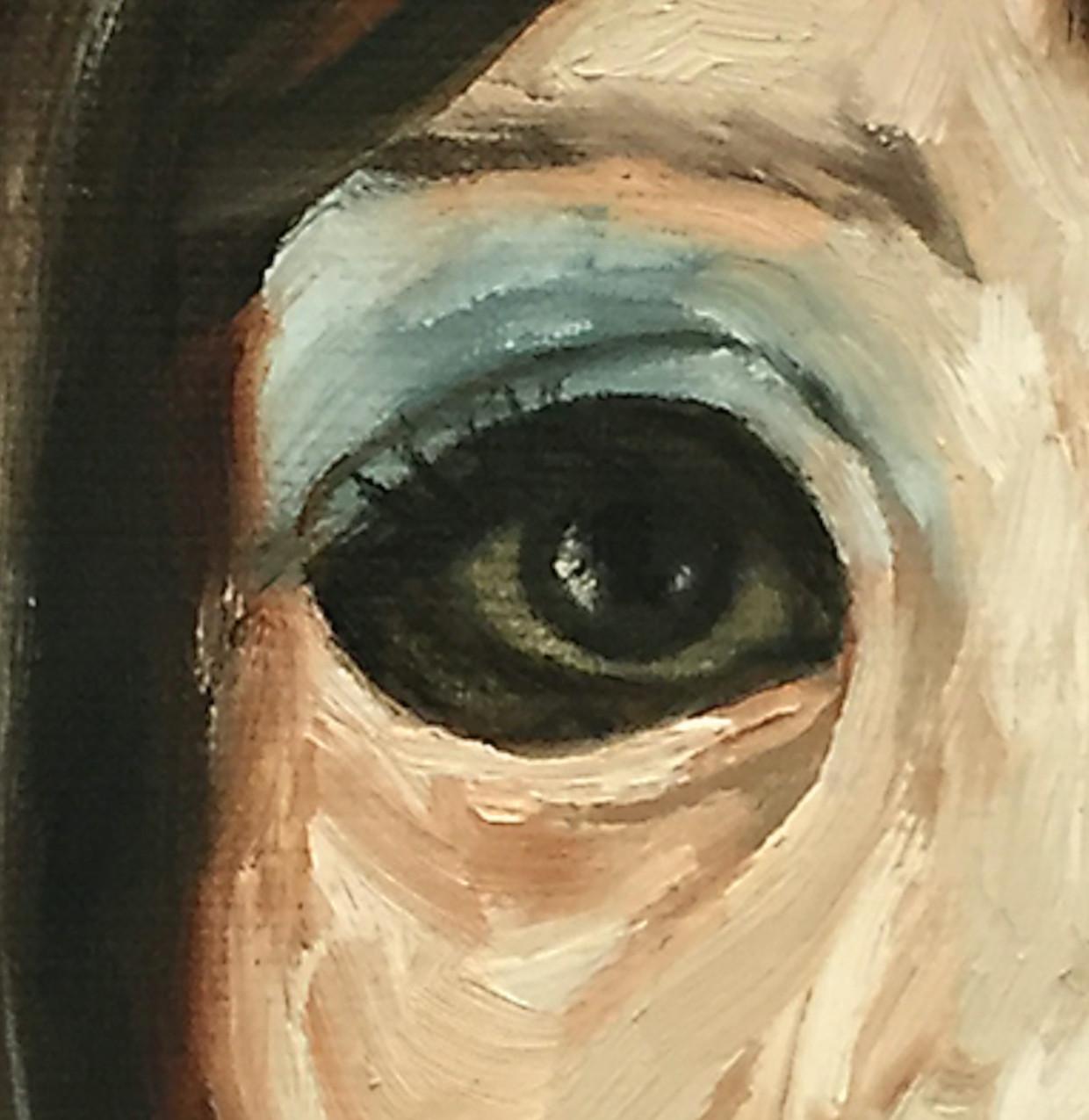 Detail uit 'Zonder titel' (2016), van Casper Warmoeskerken. Beeld