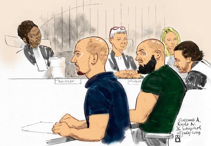 De 24-jarige Syriëganger Oussama A. uit Utrecht en Reda N. uit Leiden (25) zijn veroordeeld tot respectievelijk 7,5 en 4,5 jaar cel.