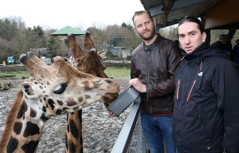 Zaakvoerders Wim Verheyen en Tommy Pasteels in de Olmense Zoo.