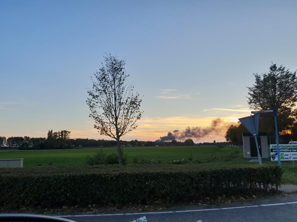 Grote brand in Dongen