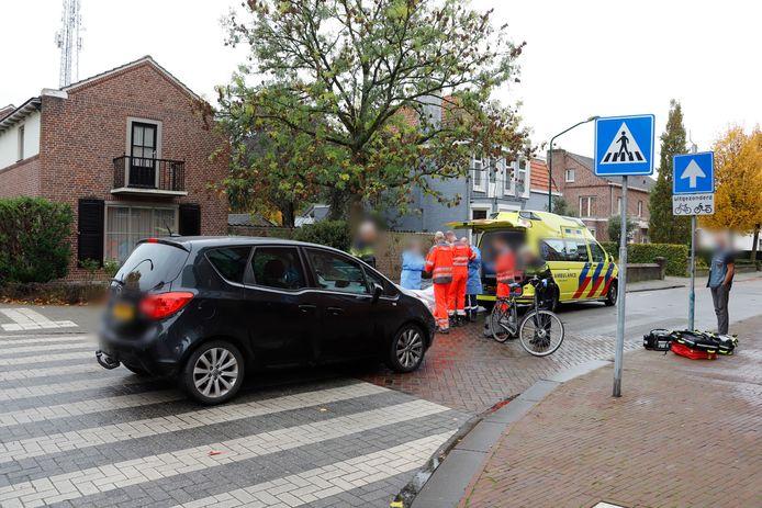 Hulpdiensten bij het ongeval.