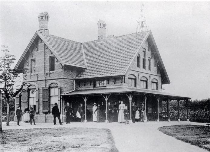 'De Boswachter' aan de westelijke bosrand, in 1894. foto Stadsarchief Breda