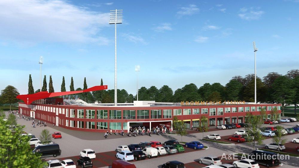 Zo moet het nieuwe stadion van FC Dordrecht eruit komen te zien.