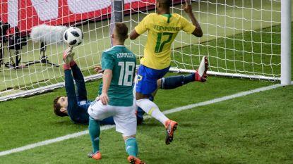 Oefenen richting WK: Brazilië wint van wereldkampioen met dank aan flater Duitse doelman - Pogba etaleert klasse