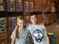 Quinten (9) en Xavier (7) zijn állertrouwste bezoekers Kunstschouw