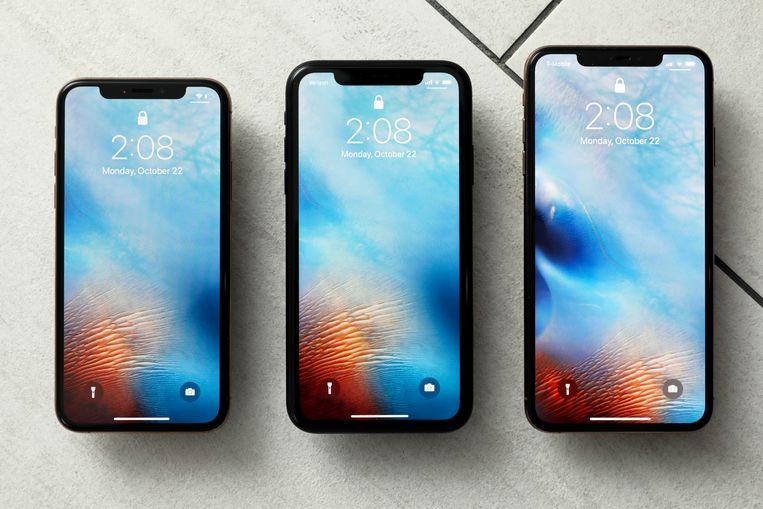 De huidige toplijn: de iPhone XS, de iPhone XR en de iPhone XS Max.