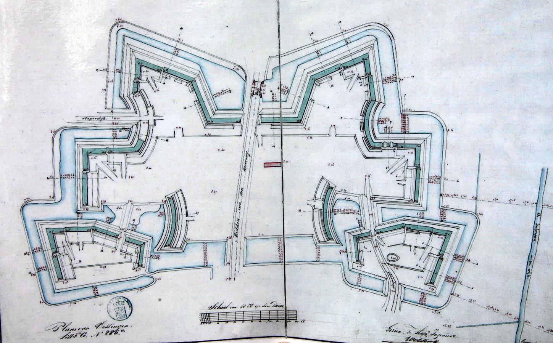 Oude plattegrond van Fort aan de Buursteeg.