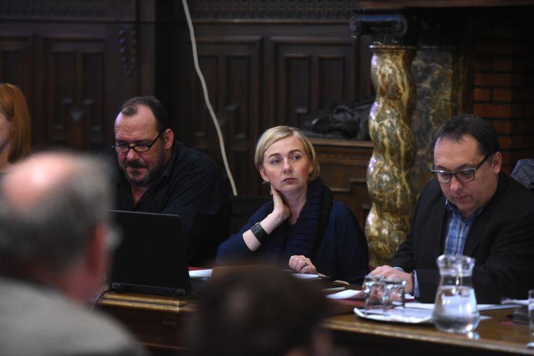 Burgemeester Nadja Vananroye.