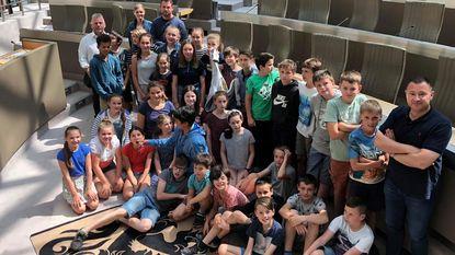 Leerlingen bezoeken Vlaams Parlement