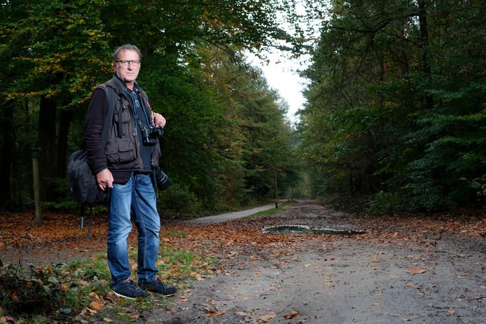 Herman Rouwenhorst spotte de wolf bij Heerde.