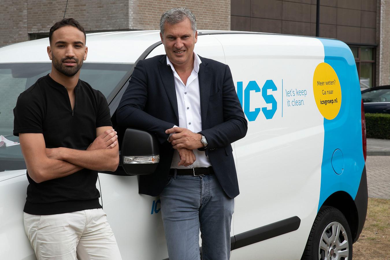 Bart van der Sluijs, directeur en mede-eigenaar van schoonmaakbedrijf ICS Groep en recruiter Abdes Haloui.