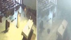 Priester weggeblazen door explosie tijdens mis in Beiroet