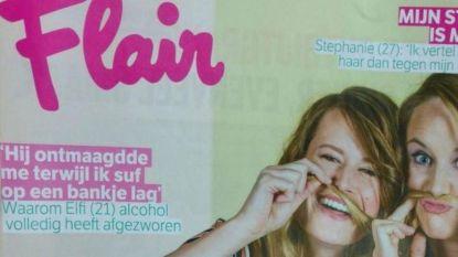 """Flair uit de bocht met foute boodschap op cover: """"Dit houdt victimblaming in stand"""""""