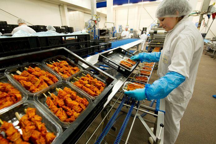 Productieruimte van Enkco vleesverwerker in Holten