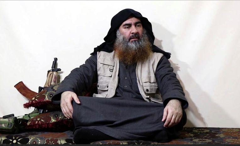 Een videobeeld van IS-leider Abu Bakr al-Baghdadi. Beeld AP