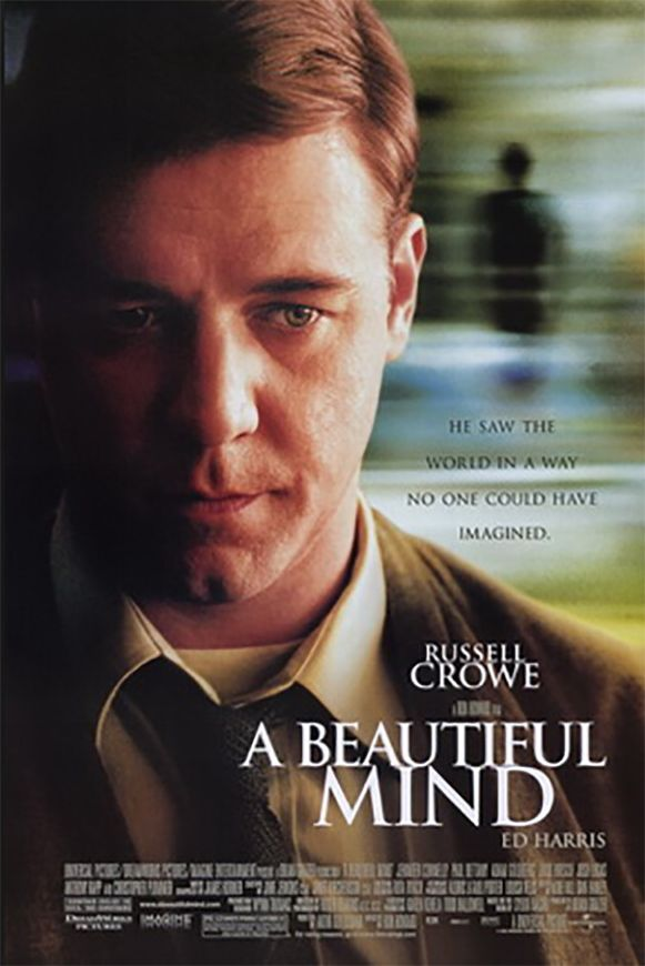Russell Crowe speelde John Nash in het bekroonde 'A Beautiful Mind'.