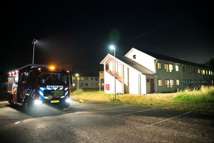 Brand bij asielzoekers in Lent.