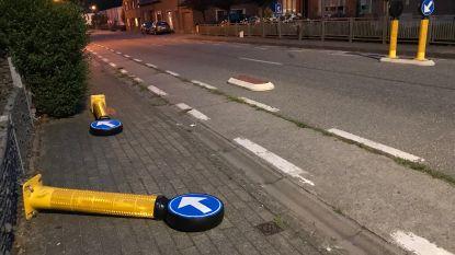 Ai, verkeerspaaltjes op Gentse Steenweg sneuvelen opnieuw