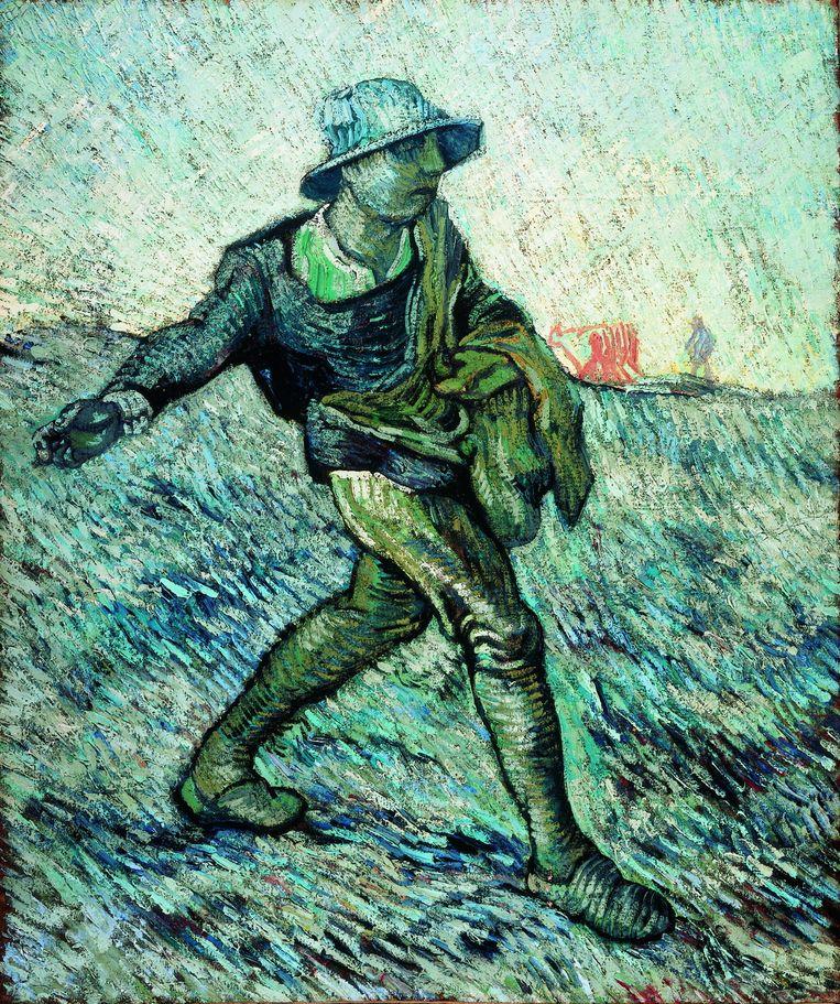 Vincent van Gogh, De zaaier (naar Millet)/ The Sower (after Millet), januari 1890. Beeld Stichting Kröller-Müller Museum