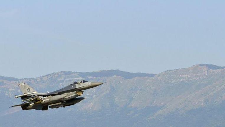 Een Amerikaanse F16 in Turkije.