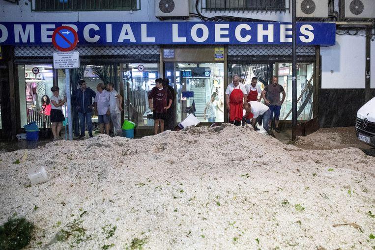 Voorstad Arganda del Rey lijkt het zwaarst getroffen.