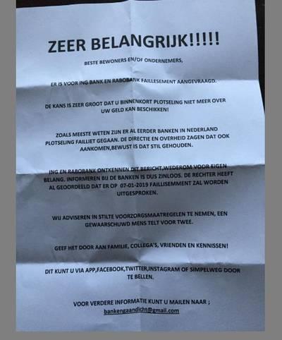 Afzender nepbrieven in Roosendaal en Breda meldt zich bij politie