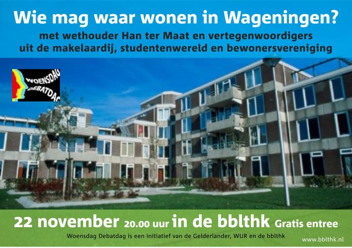 Debat over wonen in Wageningen