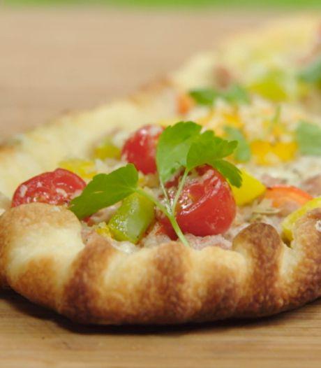 Une pizza au barbecue: la recette originale de Malou