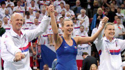 Tsjechië dankt Kvitova en plaatst zich ten koste van Zwitserland voor halve finales Fed Cup