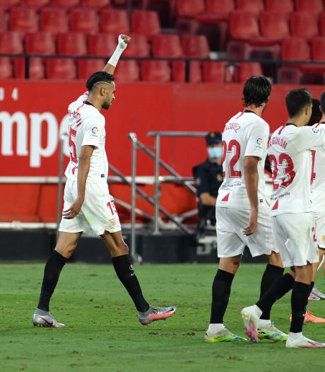 Vierde zege op rij voor Sevilla, korte invalbeurt voor De Jong