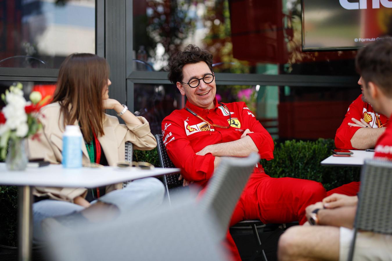 Mattia Binotto, teambaas van Ferrari.