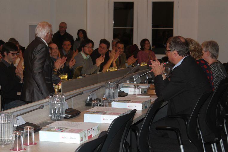 Alle gemeenteraadsleden legden de eed af tijdens de installatievergadering.