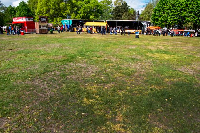 Koningsdag in het Leijpark. Met de komst van de Leyhoeve staat het park als grootschalig evenementenlocatie onder druk.