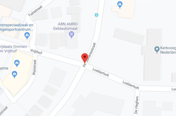De plek waar het ongeluk in Ommen plaatsvond.