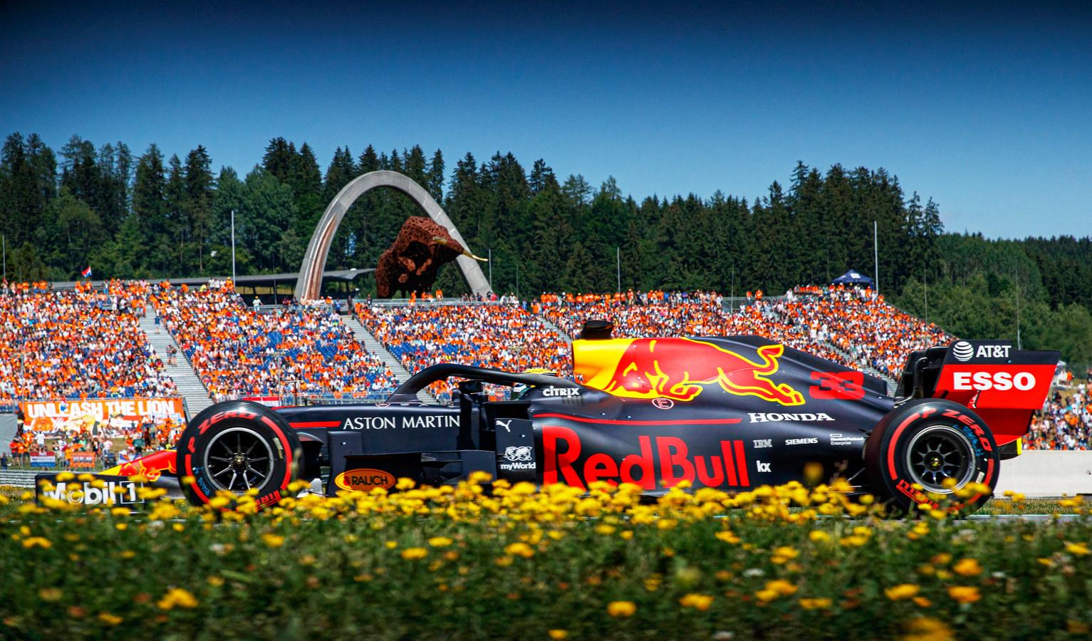 Max Verstappen in Oostenrijk.