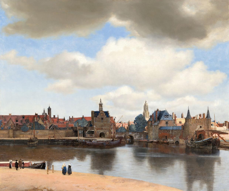 'Gezicht op Delft' van Johannes Vermeer, ca. 1660-1661.