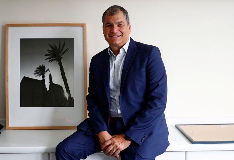Rafael Correa in Brussel in oktober 2019.  Beeld REUTERS