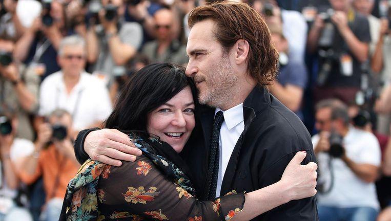 Lynne Ramsay met Joaquin Phoenix. Beeld epa