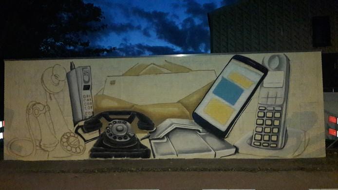 Het kunstwerk in wording aan de Barentzstraat in Valkenswaard.