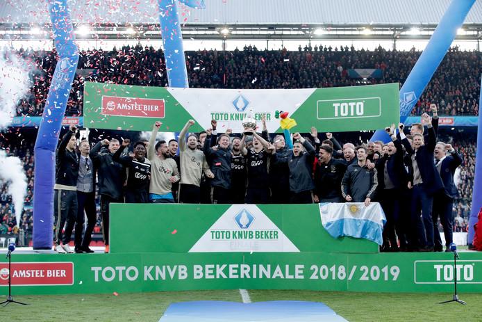 Ajax werd vorig jaar winnaar van de KNVB-beker.