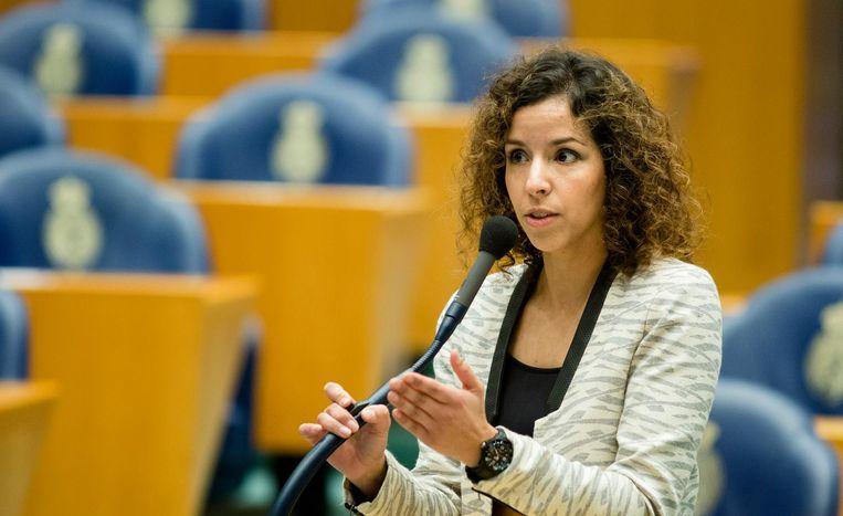 Wassila Hachchi tijdens een debat in de Tweede Kamer in 2014. Beeld anp