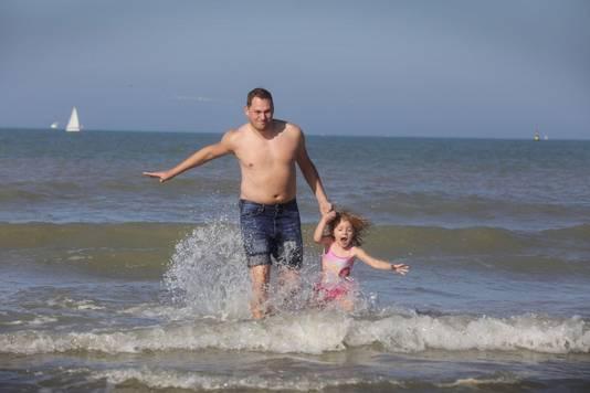 Wesley Vanhecke uit Wetteren met dochtertje Maité.