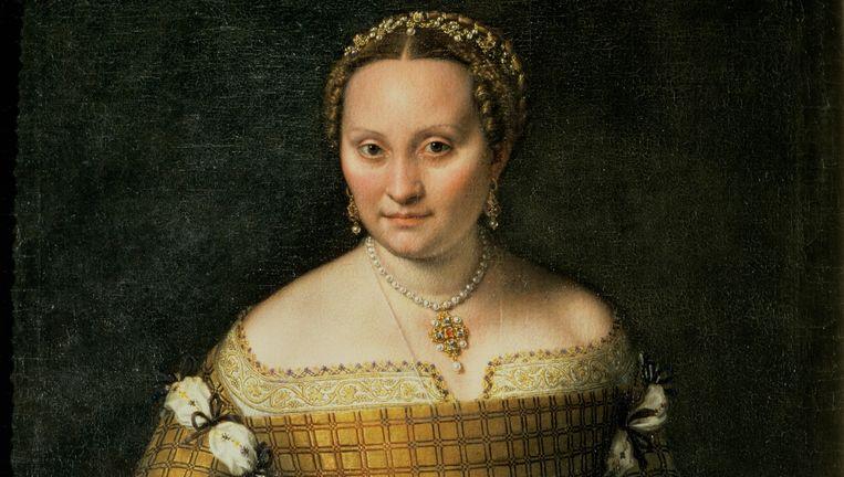 Sofonisba Anguissola Portret van Bianca Ponzoni Anguissola, moeder van de kunstenaar, 1557 Olieverf op doek; 98 x 75 cm Beeld Staatliche Museen zu Berlin, Gemäldegalerie, Berlijn