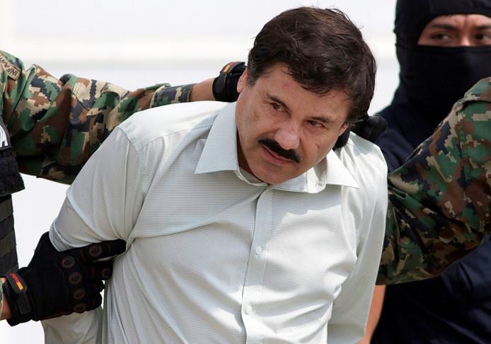 Joaquin 'El Chapo' Guzman bij zijn arrestatie in 2014.