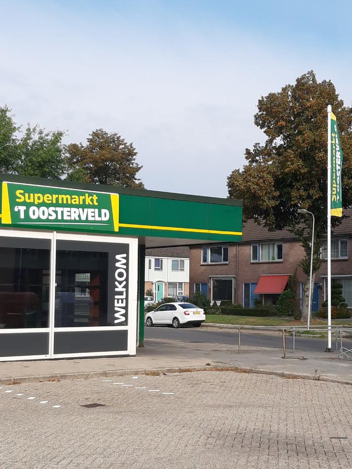 De nieuwe supermarkt die binnenkort de deuren opent.