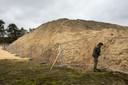 Afgegraven grond in het depot van Staatsbosbeheer.