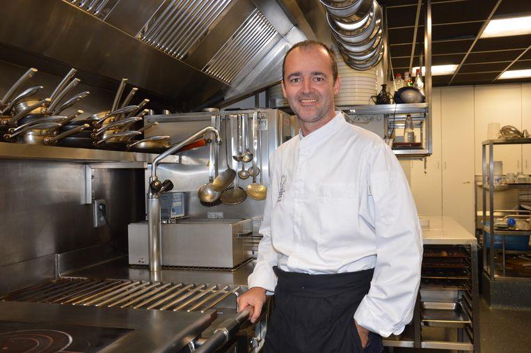 Archieffoto van chef Kristof Coppens in zijn zaak Apriori.