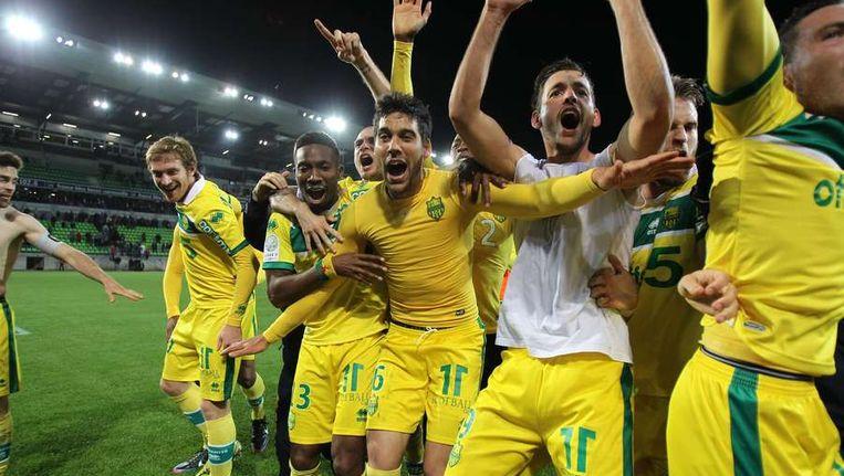 FC Nantes kroonde zich dit jaar tot kampioen van de Ligue 2. Beeld afp